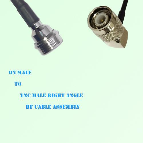 QN Male to TNC Male Right Angle RF Cable Assembly
