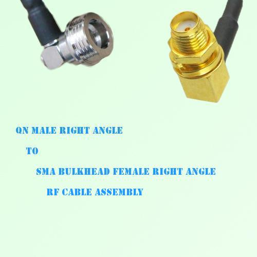 QN Male R/A to SMA Bulkhead Female R/A RF Cable Assembly