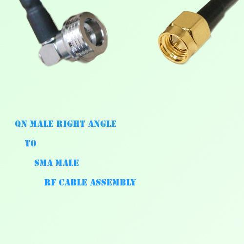 QN Male Right Angle to SMA Male RF Cable Assembly