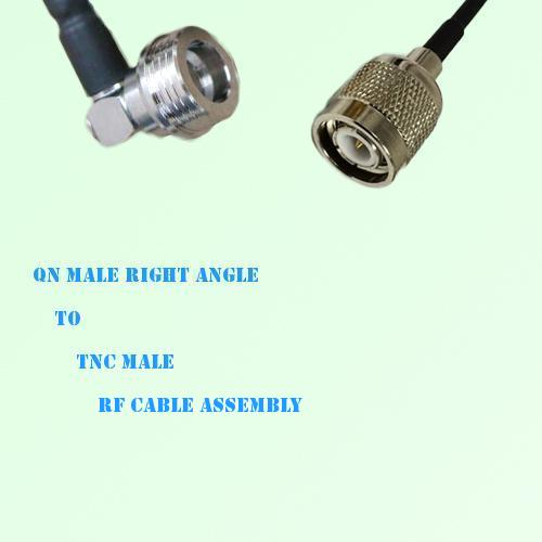 QN Male Right Angle to TNC Male RF Cable Assembly