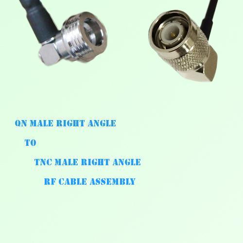 QN Male Right Angle to TNC Male Right Angle RF Cable Assembly