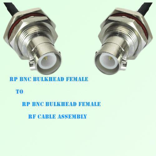Rp bnc bulkhead female to rf cable