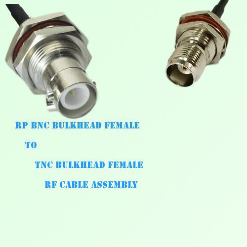 RP BNC Bulkhead Female to TNC Bulkhead Female RF Cable Assembly
