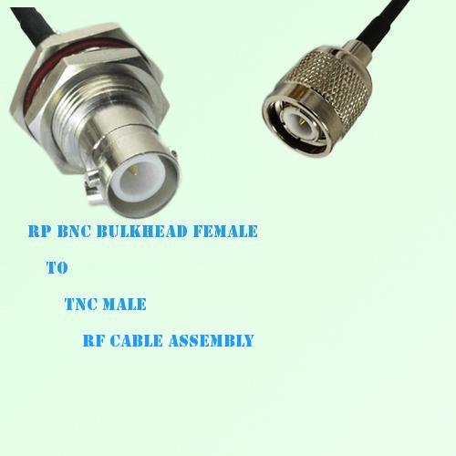 RP BNC Bulkhead Female to TNC Male RF Cable Assembly