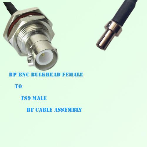 RP BNC Bulkhead Female to TS9 Male RF Cable Assembly