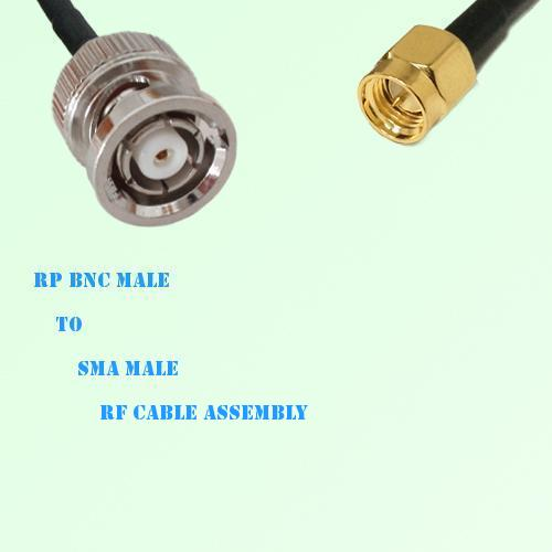 RP BNC Male to SMA Male RF Cable Assembly