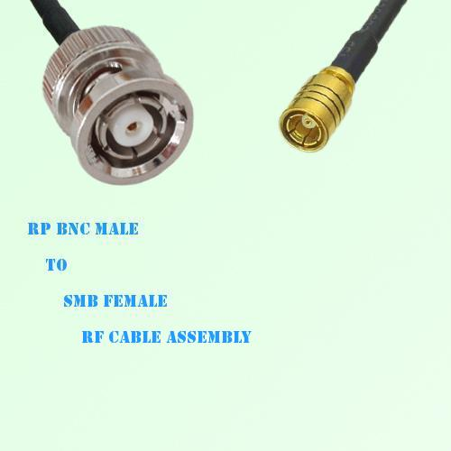 RP BNC Male to SMB Female RF Cable Assembly