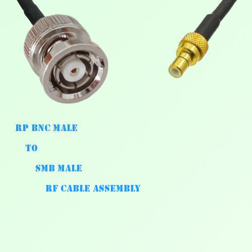 RP BNC Male to SMB Male RF Cable Assembly