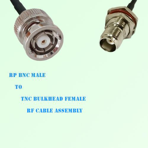 RP BNC Male to TNC Bulkhead Female RF Cable Assembly