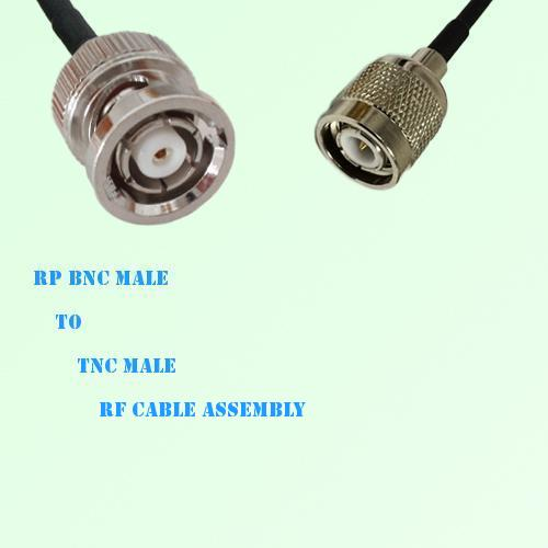 RP BNC Male to TNC Male RF Cable Assembly