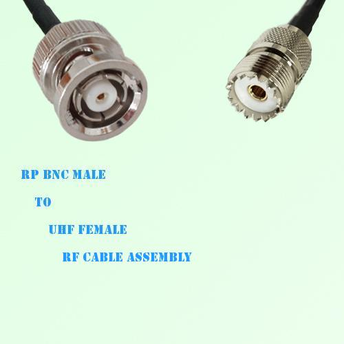 RP BNC Male to UHF Female RF Cable Assembly