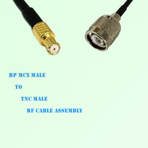 RP MCX Male to TNC Male RF Cable Assembly
