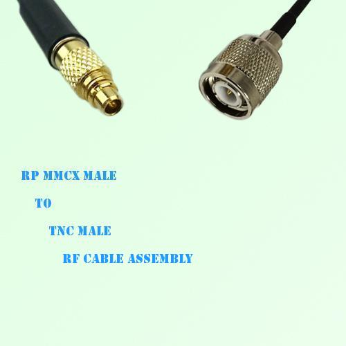 RP MMCX Male to TNC Male RF Cable Assembly