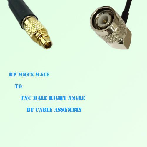 RP MMCX Male to TNC Male Right Angle RF Cable Assembly