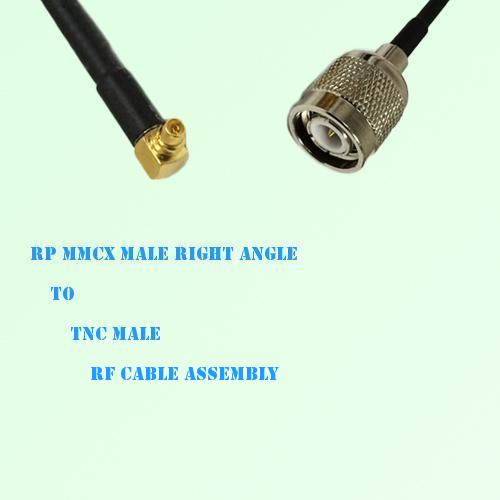 RP MMCX Male Right Angle to TNC Male RF Cable Assembly