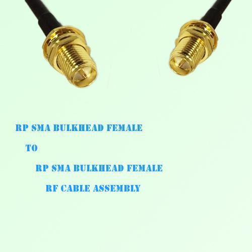 RP SMA Bulkhead Female to RP SMA Bulkhead Female RF Cable Assembly