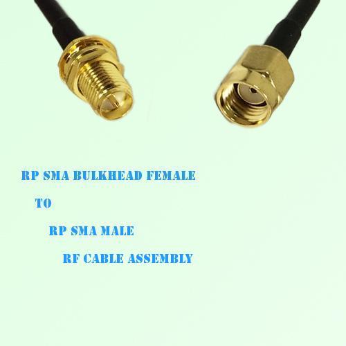 RP SMA Bulkhead Female to RP SMA Male RF Cable Assembly