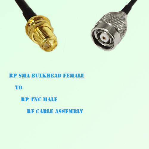 RP SMA Bulkhead Female to RP TNC Male RF Cable Assembly