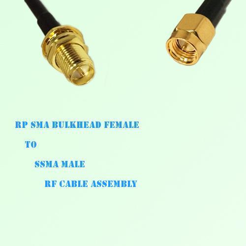 RP SMA Bulkhead Female to SSMA Male RF Cable Assembly