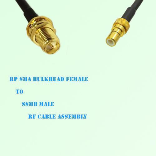 RP SMA Bulkhead Female to SSMB Male RF Cable Assembly
