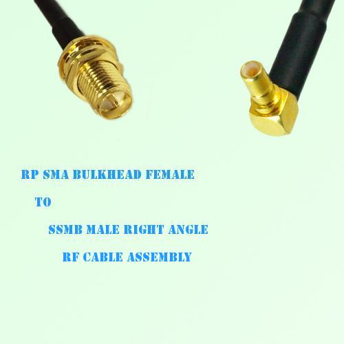RP SMA Bulkhead Female to SSMB Male Right Angle RF Cable Assembly