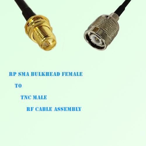 RP SMA Bulkhead Female to TNC Male RF Cable Assembly
