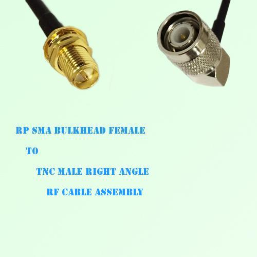 RP SMA Bulkhead Female to TNC Male Right Angle RF Cable Assembly