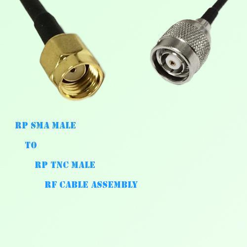 RP SMA Male to RP TNC Male RF Cable Assembly