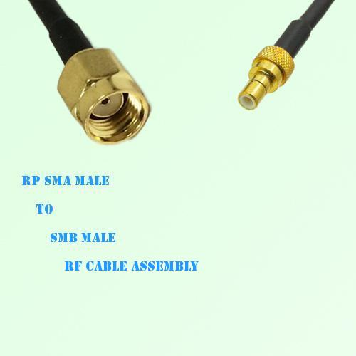 RP SMA Male to SMB Male RF Cable Assembly