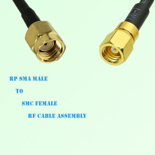 RP SMA Male to SMC Female RF Cable Assembly