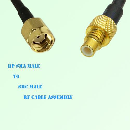 RP SMA Male to SMC Male RF Cable Assembly