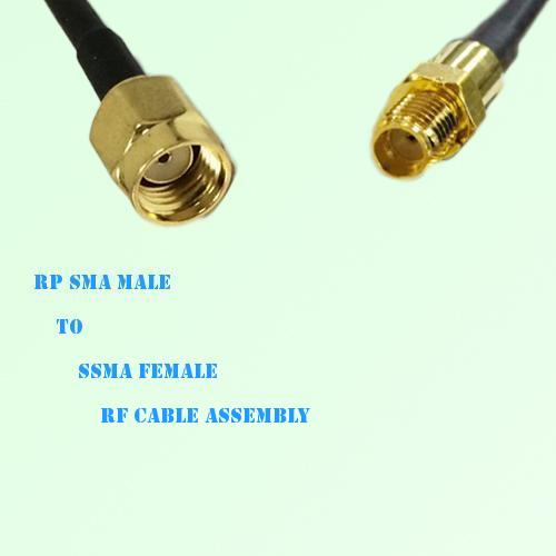 RP SMA Male to SSMA Female RF Cable Assembly