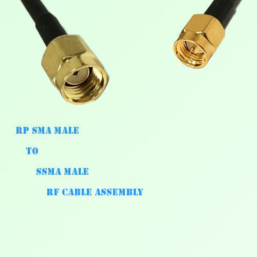 RP SMA Male to SSMA Male RF Cable Assembly