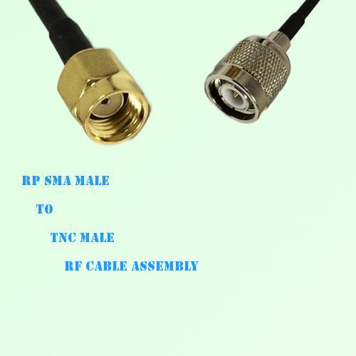 RP SMA Male to TNC Male RF Cable Assembly