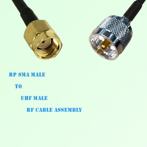 RP SMA Male to UHF Male RF Cable Assembly