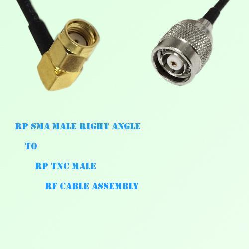 RP SMA Male Right Angle to RP TNC Male RF Cable Assembly