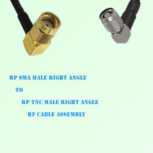 RP SMA Male Right Angle to RP TNC Male Right Angle RF Cable Assembly