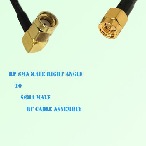 RP SMA Male Right Angle to SSMA Male RF Cable Assembly