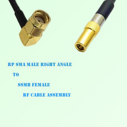 RP SMA Male Right Angle to SSMB Female RF Cable Assembly