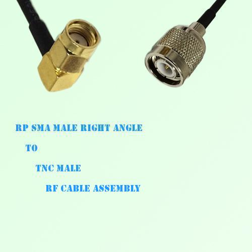 RP SMA Male Right Angle to TNC Male RF Cable Assembly