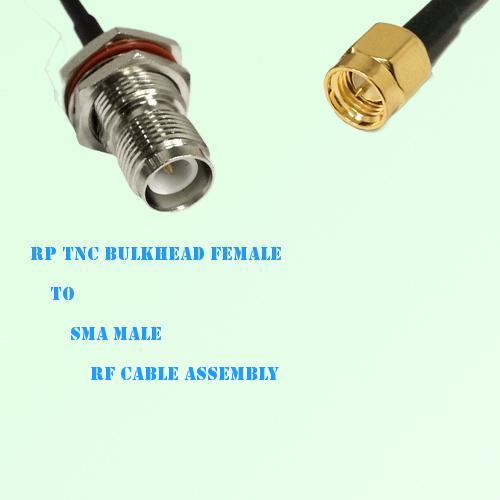 RP TNC Bulkhead Female to SMA Male RF Cable Assembly