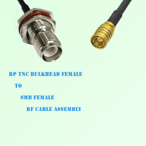RP TNC Bulkhead Female to SMB Female RF Cable Assembly