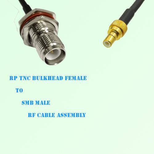 RP TNC Bulkhead Female to SMB Male RF Cable Assembly