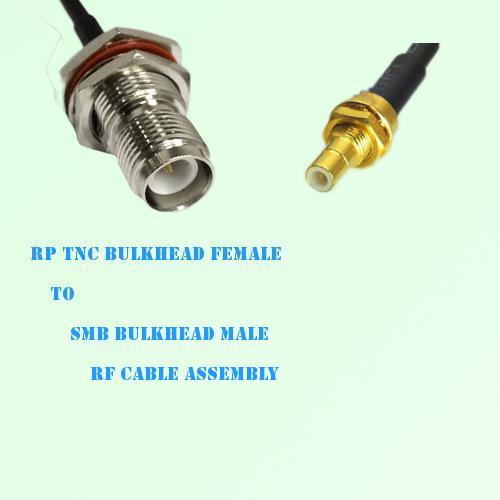RP TNC Bulkhead Female to SMB Bulkhead Male RF Cable Assembly