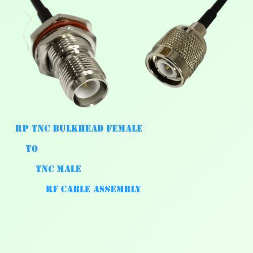 RP TNC Bulkhead Female to TNC Male RF Cable Assembly