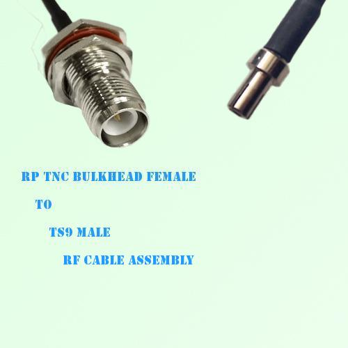 RP TNC Bulkhead Female to TS9 Male RF Cable Assembly