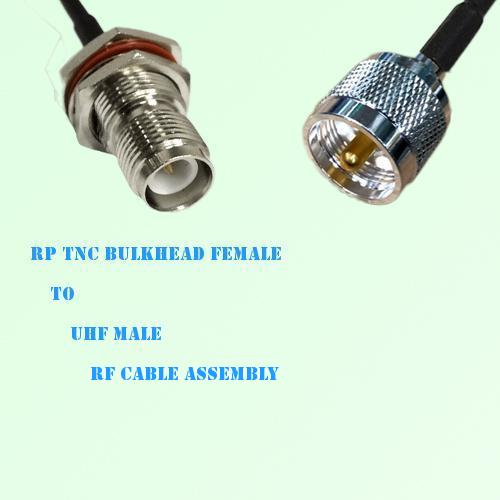 RP TNC Bulkhead Female to UHF Male RF Cable Assembly