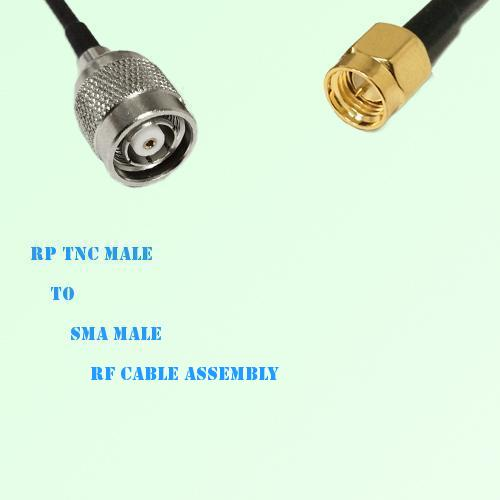 RP TNC Male to SMA Male RF Cable Assembly