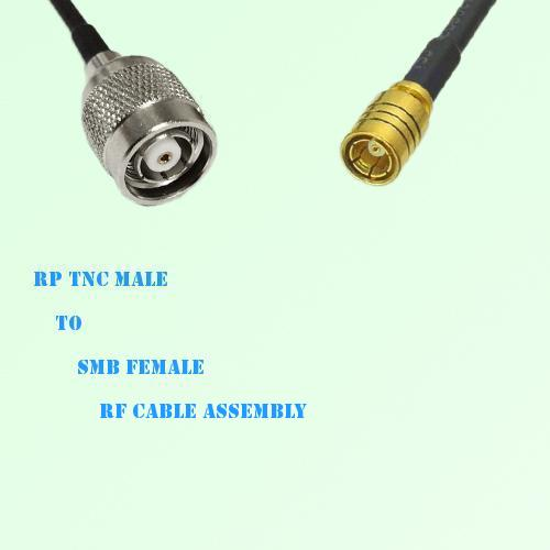 RP TNC Male to SMB Female RF Cable Assembly