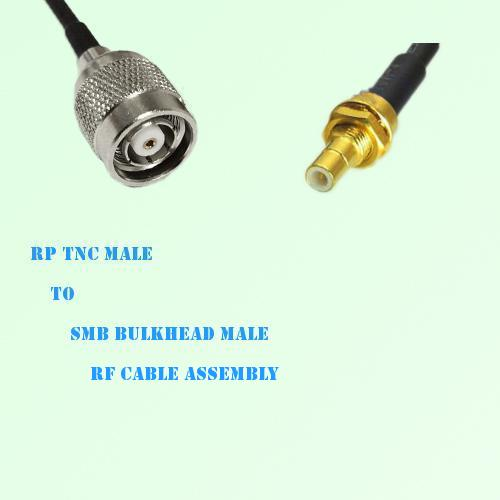 RP TNC Male to SMB Bulkhead Male RF Cable Assembly